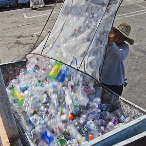 Drop off plastic bottles